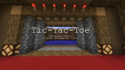 Tic-tac-toe [2 player minigame] Minecraft Map & Project