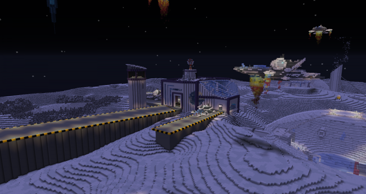 """A vanilla view of the """"spaceport"""""""