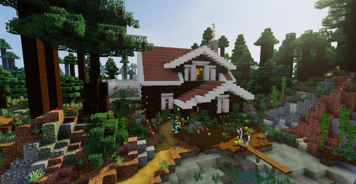 My Survival Mega Taiga Cabin Minecraft Map