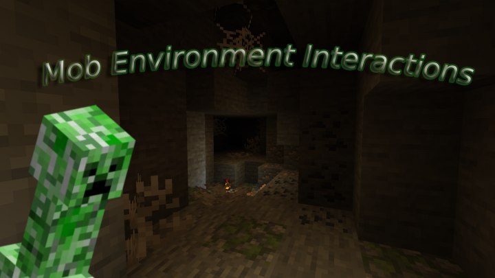 Mobs will leave their mark around cave systems!