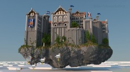 Grand medieval Castle on a flying Island Minecraft Map & Project