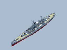 RNS Queens Class Heavy Cruiser Minecraft Map & Project