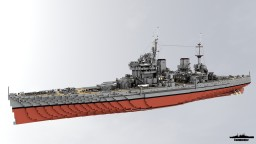 HMS Howe 1:1 Scale KGV Class Minecraft Map & Project