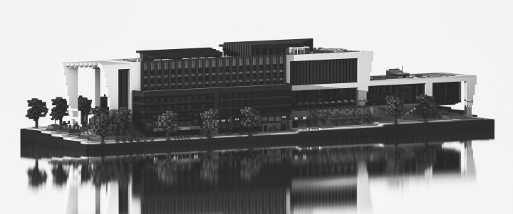 Reven International Headquarters - Scandinavia black and white render