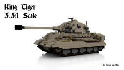 King Tiger tank 5.5:1 scale Minecraft Map & Project