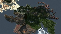 RPG island with biomes - 4000х4000 WorldPainter Minecraft Map & Project