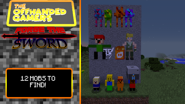 12 Different Mobs to find!