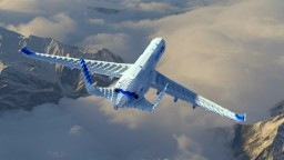 3:1 Scale airliner Minecraft Map & Project
