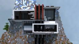 "Futuristic modern Mansion ""on the Rocks"" Minecraft Map & Project"