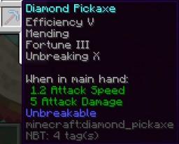 Unbreaking 10 & Unbreakable Items Minecraft Data Pack