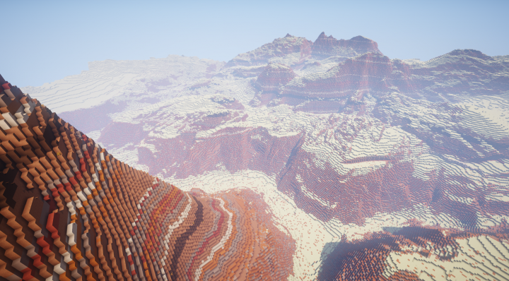 A Canyon beneath the giant wall