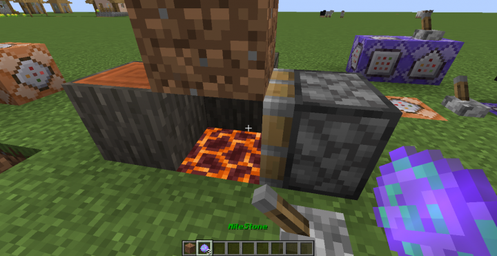 the magma block should be present to produce heat