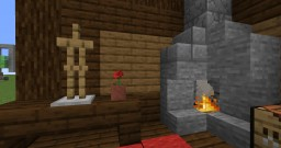working fireplace + Tutorial Minecraft Map & Project