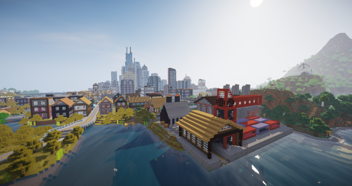 Builds ranging from industrial ports...