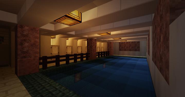 cabin swimming bath