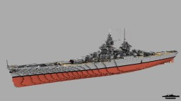 Battleship Gascogne 1:1 Scale Richelieu class Minecraft Map & Project