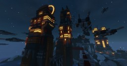 """sci-fi Research base """"Oxided-35"""" Minecraft Map & Project"""