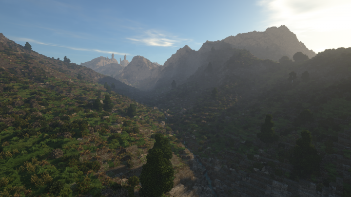 A desolate valley nearby