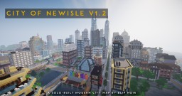 City of Newisle v1.2 |  Solo-built modern Minecraft city | Still in active development! Minecraft Map & Project
