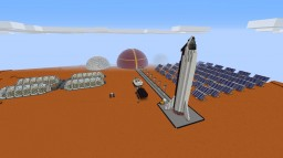 SpaceX Mars Colony Minecraft Map & Project