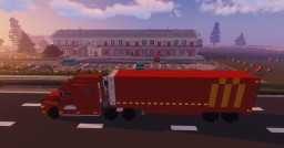 1.5:1 Scale Mack Anthem, McDonald's delivery truck with matching ref bulk trailer Minecraft Map & Project