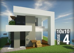 10x10 Contemporary house 4 Minecraft Map & Project