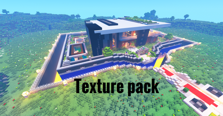 Texture pack for Super Safe modern mansion map Minecraft