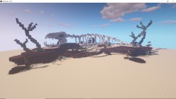 Ancient Beast Skeleton in the Wastelands Minecraft Map & Project