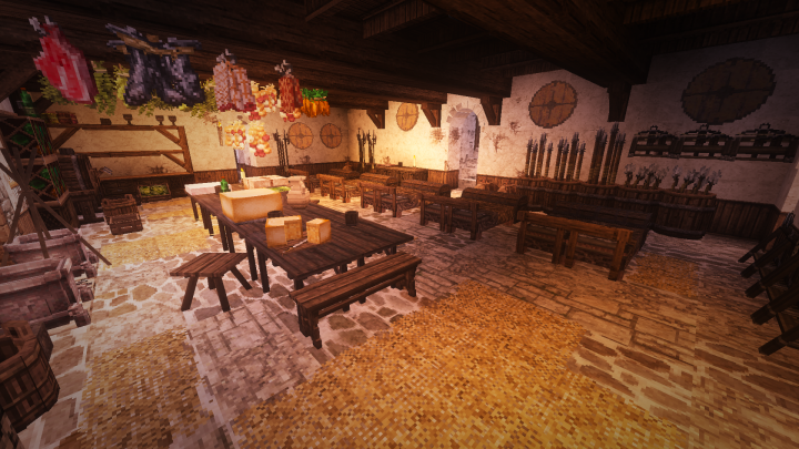 Kitchen and servants room