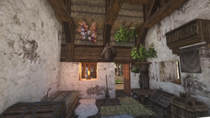 Servant hut