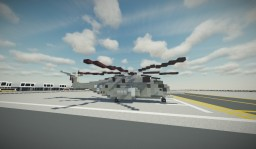 Sikorsky MH-53 Sea Dragon - Minesweeping Helicopter Minecraft Map & Project