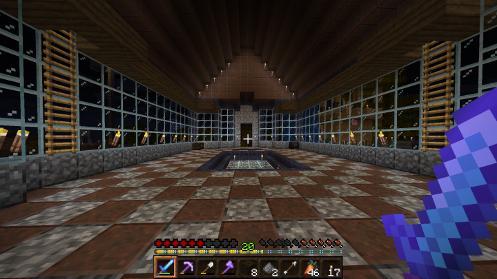 Cathedral Interior showing off Diorite, Granite, and Andesite