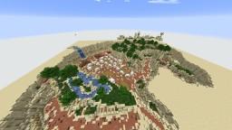 Oasis Desert Canyon - w/Transformed village - {Terraforming} Minecraft Map & Project
