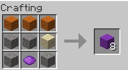 Cocrete Powder craftable with red sand Minecraft Mod