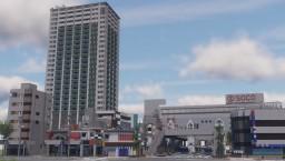 japanese style city・kamazaki station Minecraft Map & Project