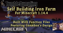 Self Building Iron Farm for Minecraft 1.14.4 (Uses Function Files) Minecraft Map & Project