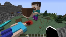 Herobrine Vs. Steve Statue Fatality Minecraft Map & Project