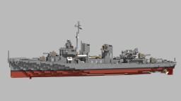 USS Pringle DD-477 - 1942 Minecraft Map & Project