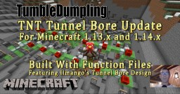 TNT Tunnel Bore UPDATE for Minecraft 1.13 and 1.14 (Uses Function Files) Minecraft Map & Project