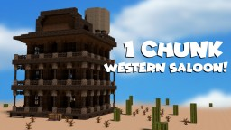 1 Chunk Western Saloon Minecraft Map & Project
