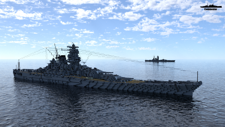 IJN Yamato 1:1 Scale (August 2019) Minecraft Project
