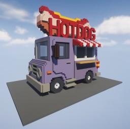 Retro Hot Dog Truck Minecraft Map & Project