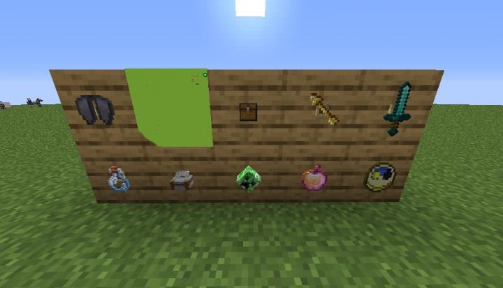 Various items on item frames.
