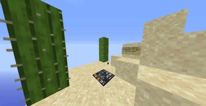 Sand Island with treasure