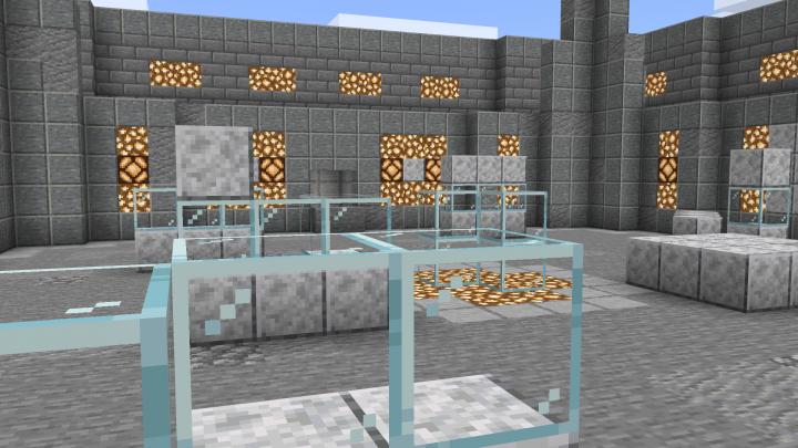 Inside the default arena.