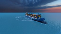 Massive Custom Container Ship | S.S. New Wave | By:CrazyMiner Minecraft Map & Project