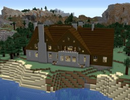 Seahall - Shingle-Style Oceanside Manor Minecraft Map & Project