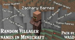 WASD Random Villager Names [Datapack] Minecraft Data Pack