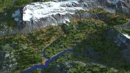 1.5k by 1.5k River Valley Custom Terrain Minecraft Map & Project