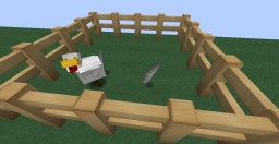 Chickens randomly shed feathers Minecraft Data Pack